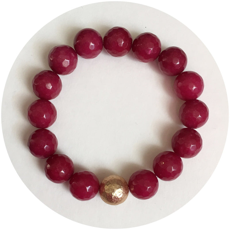 Marsala Jade with Hammered Gold Accent - Oriana Lamarca LLC