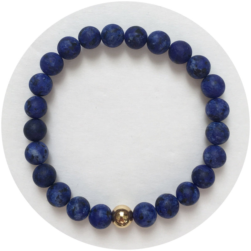 Mens Matte Lapis with Gold Accent - Oriana Lamarca LLC