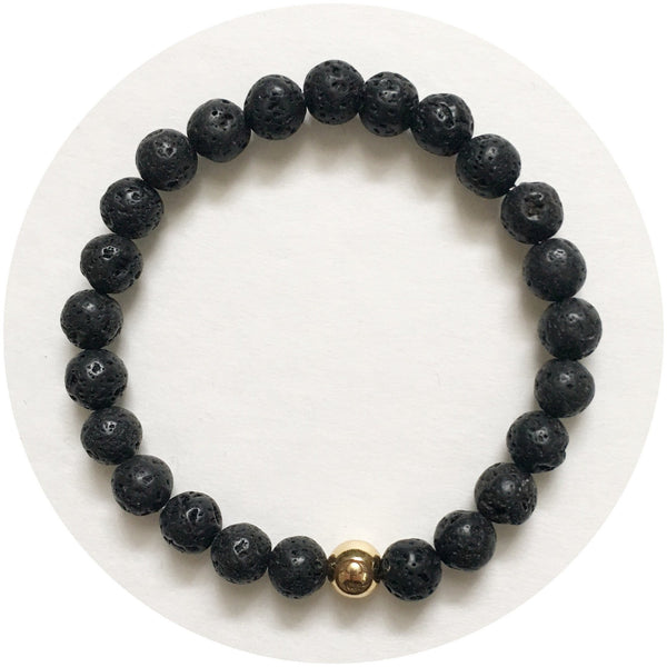 Mens Black Lava with Gold Accent - Oriana Lamarca LLC