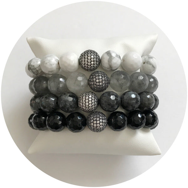 Grey Ombré Arm Party - Oriana Lamarca LLC