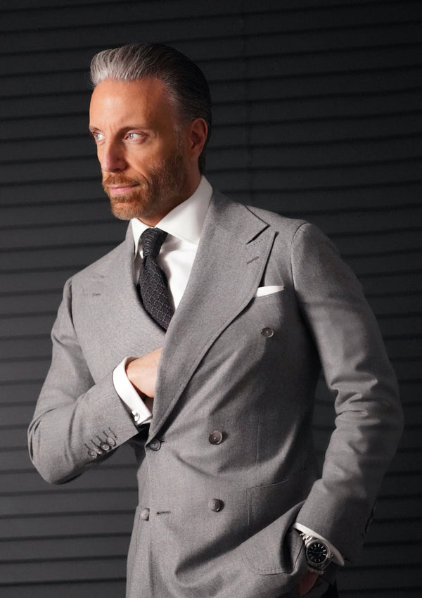 Light Grey Flannel Suit