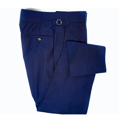 Midnight Navy Searsucker Trousers