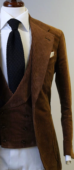Milk Chocolate Brown Corduroy Suit
