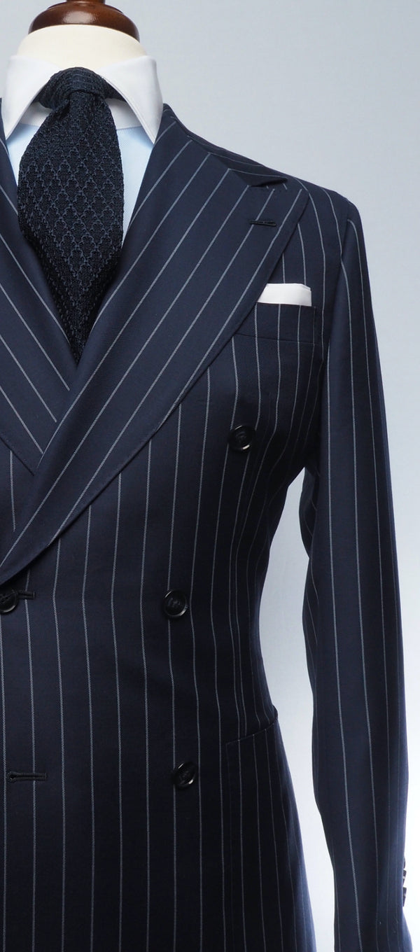 Navy Blue Pinstripe Suit