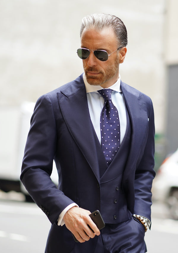 Perfect Blue Peak Suit