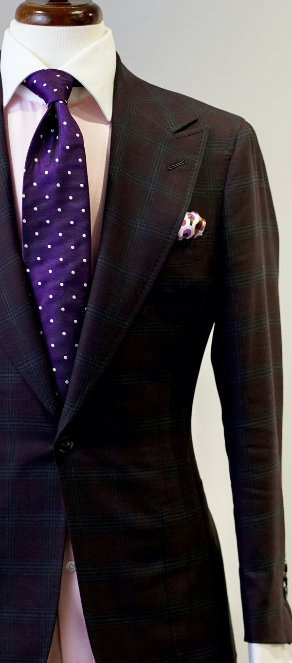 Plum & Green Plaid Jacket