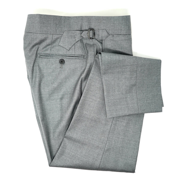 Powder Grey Solid Trousers