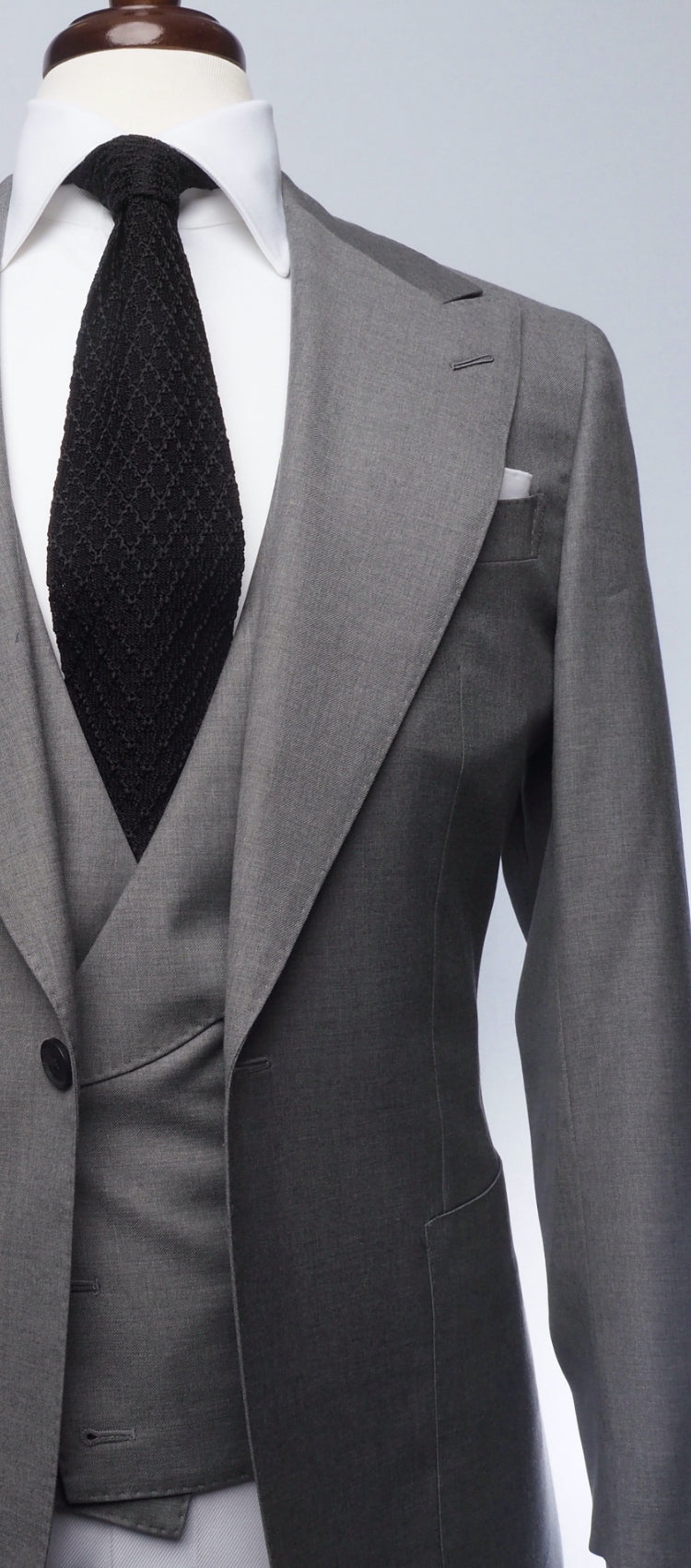 Powder Grey Solid Suit