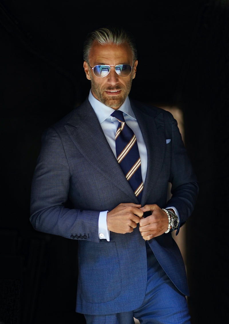 Southern Blue Tick Weave Suit