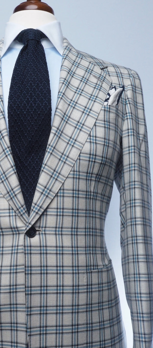 Stone Grey & Midnight Plaid Jacket