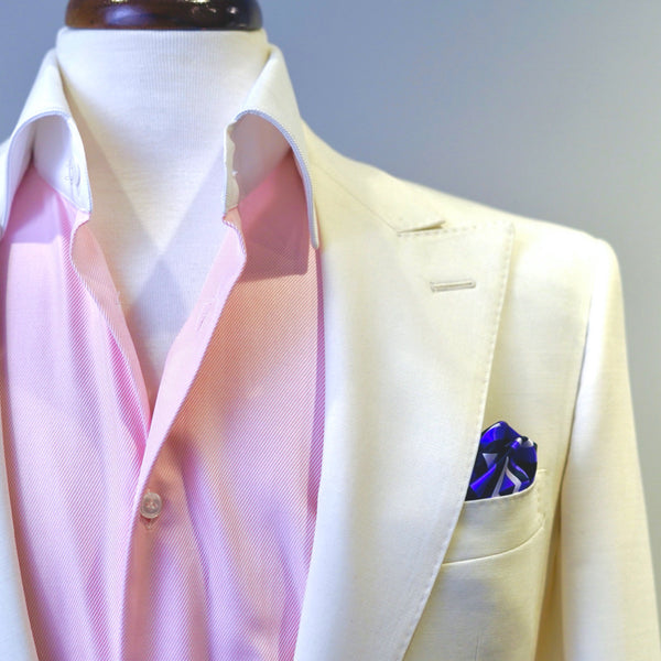 Violet Diamond Deco Pocket Square