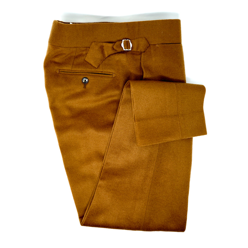 Whiskey Brown Flannel Trousers
