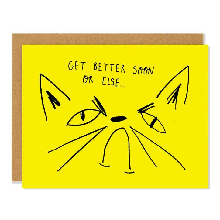Snitty Kitty Get Better Card
