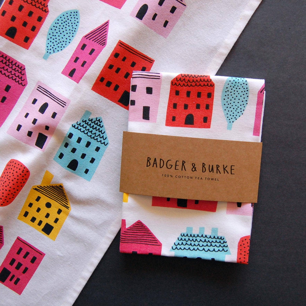 Badger & Burke - Little Houses Tea Towel