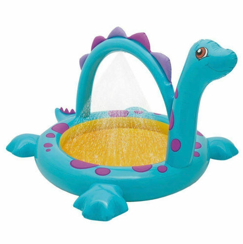 INTEX INFLATABLE BLOW UP DINO SPRAY KIDS PADDLING POOL GARDEN OUT DOOR FUN