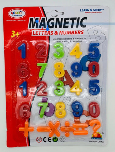 Colourful Magnetic Numbers & Maths Symbols, Learning Creative Play For Kids 26 pcs