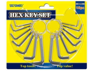 16pc Hex Allen Key Tool Kit Set Metric & Imperial Sizes for DIY & Home