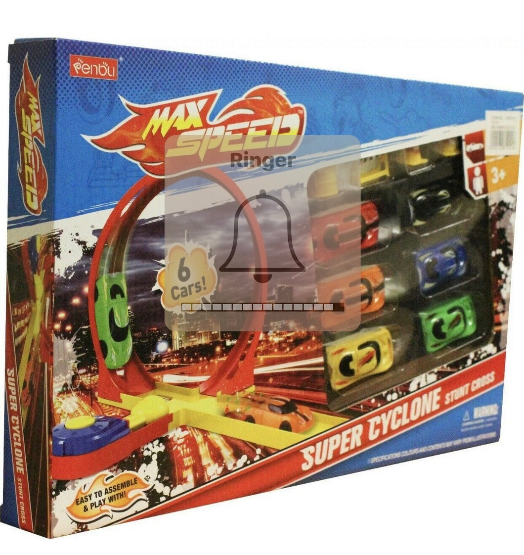 Children's Supper Cyclone Stunt Cross Racing Car Set With 6 Cars