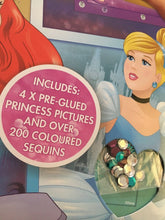 Load image into Gallery viewer, Disney Princess Sequin Peel and Stick, Girls Gift, Sparkly Sequins