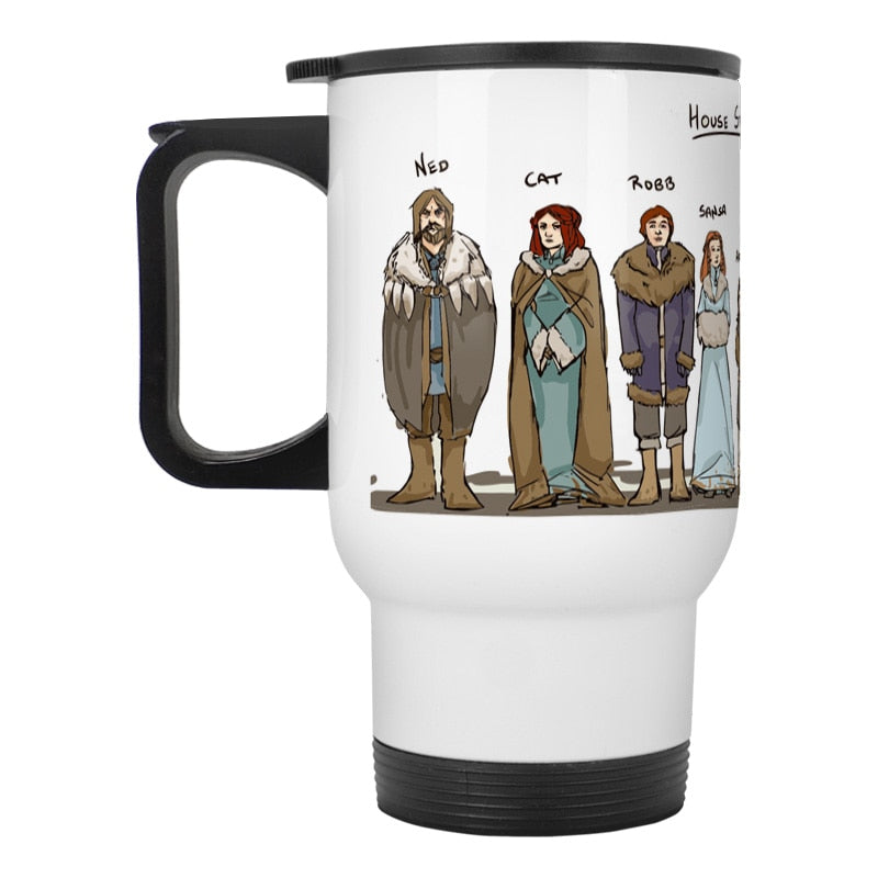 House Stark Jon Snow Travel Mug