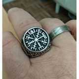 Ancient Vegvisir Adjustable Ring