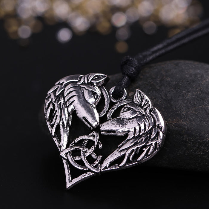 Heart Shaped Wolf Necklace Proof Of Love- Perfect Gift For Yourself