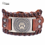 Wolf Paw Leather Bracelet [Help For Leadership]