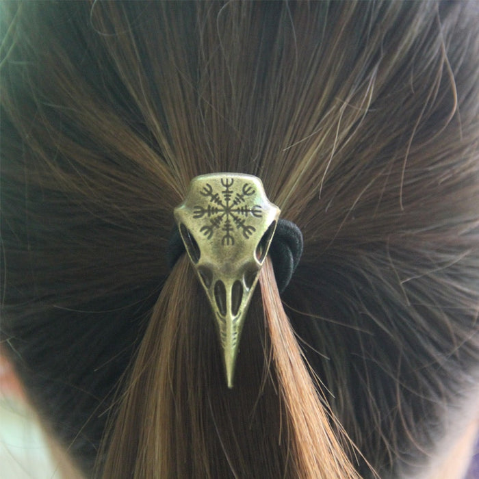 Raven Skull Viking Hairwear - Symbol Of War