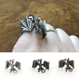 Adjustable Dragon Viking Ring