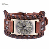 Viking Sun Leather Bracelet [Casual Style]