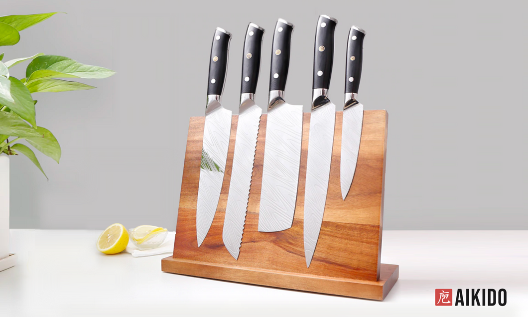 Horudo Acacia Wood Magnetic Knife Holder