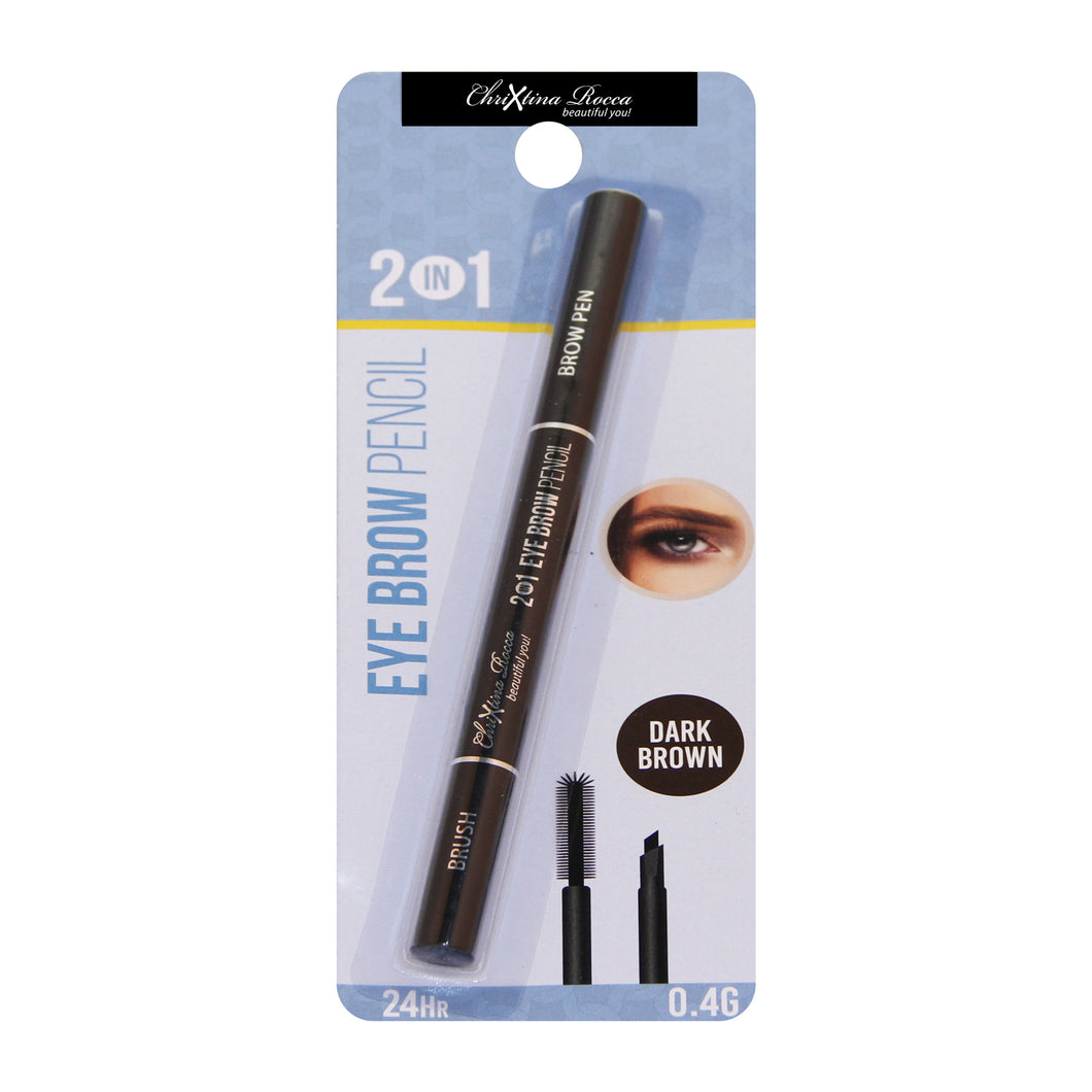 Chrixtina Rocca 2 in 1 Eye Brow Pencil Dark Brown