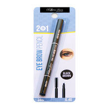 Load image into Gallery viewer, Chrixtina Rocca 2 in 1 Eye Brow Pencil Black Brown