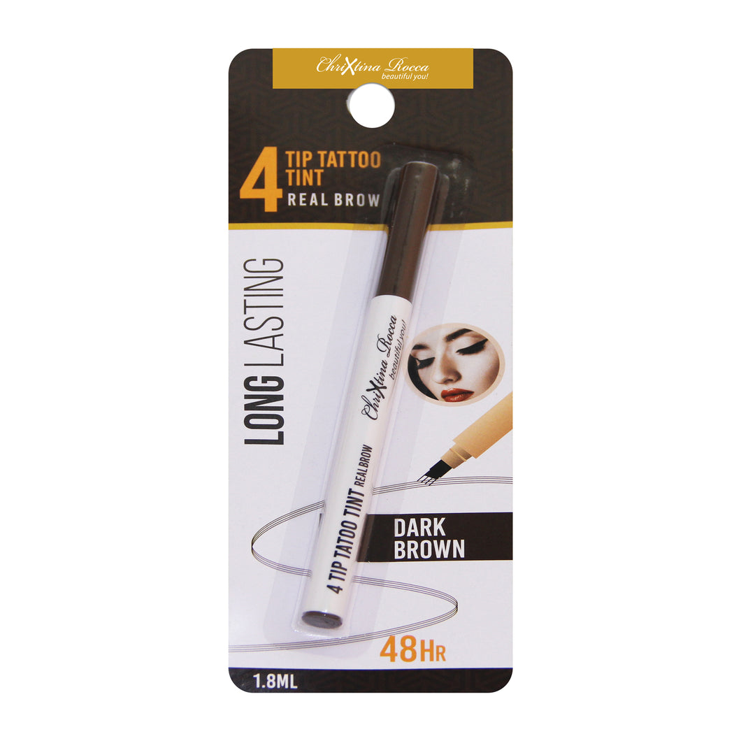 Chrixtina Rocca 4-Tip Eyebrow Tattoo Tint Dark Brown