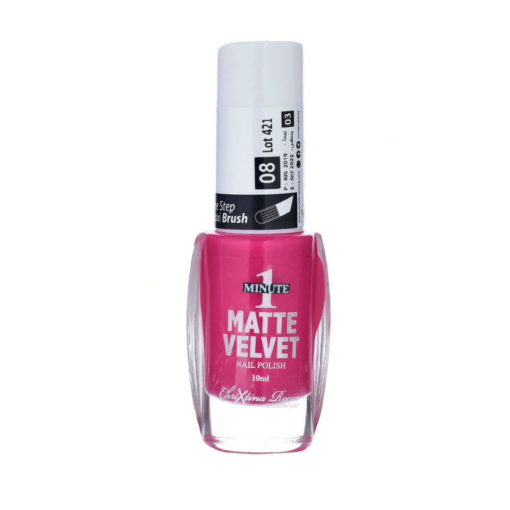Chrixtina Rocca 1 Minute Matte Velvet Nail Polish 10ml