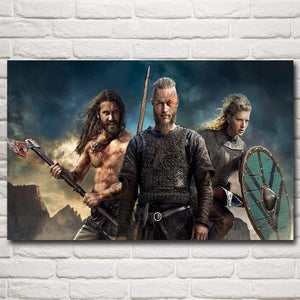 Vikings Silk Fabric Art Poster Prints