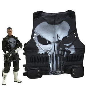 Punisher Season 1 Cosplay Leather Vest Custom Made