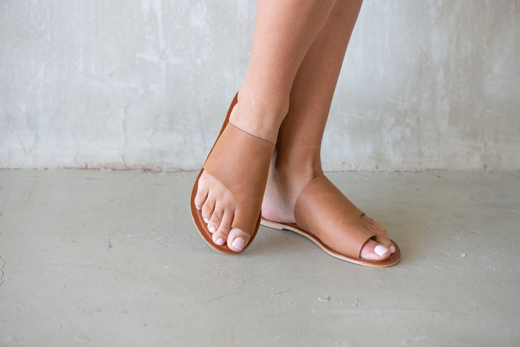 Tan Myra Slide - Calypso Sandals