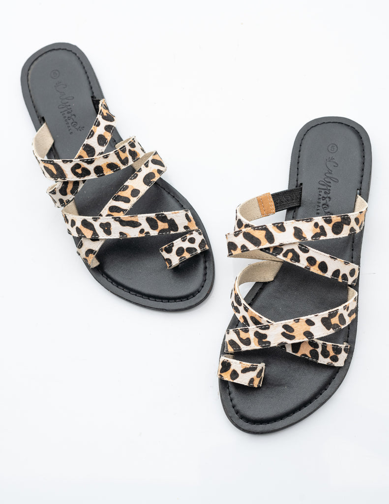 Black/snow leopard 'Xanthi' slide