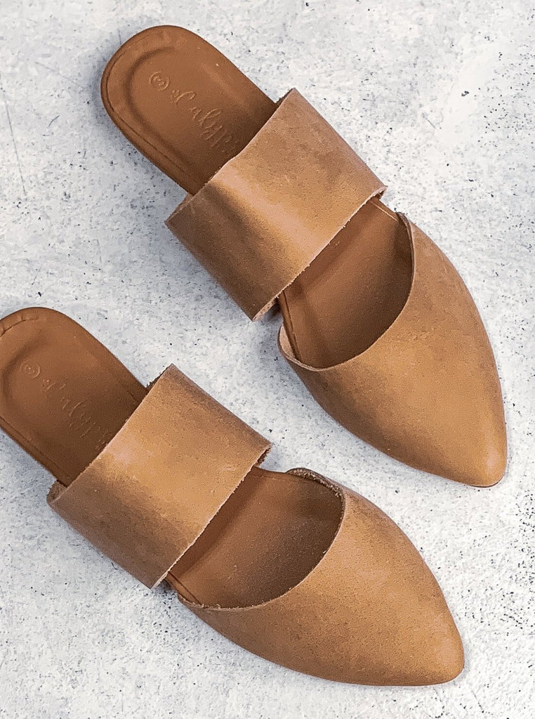 Tan 'Osana' slip on mule