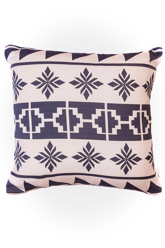 Haus of Meraki Composition #3 Belgian Cotton Linen Cushion 45x45cm