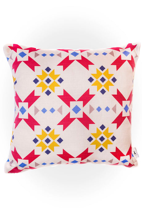 Haus of Meraki Composition #4 Belgian Cotton Linen Cushion 45x45cm