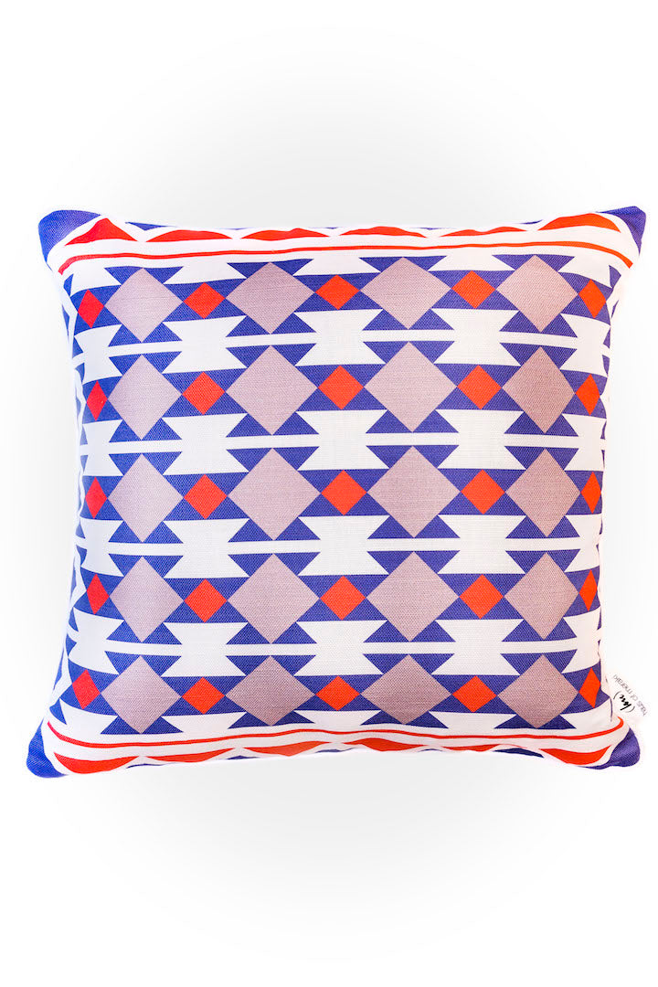 Haus of Meraki Composition #6 Belgian Cotton Linen Cushion 45x45cm