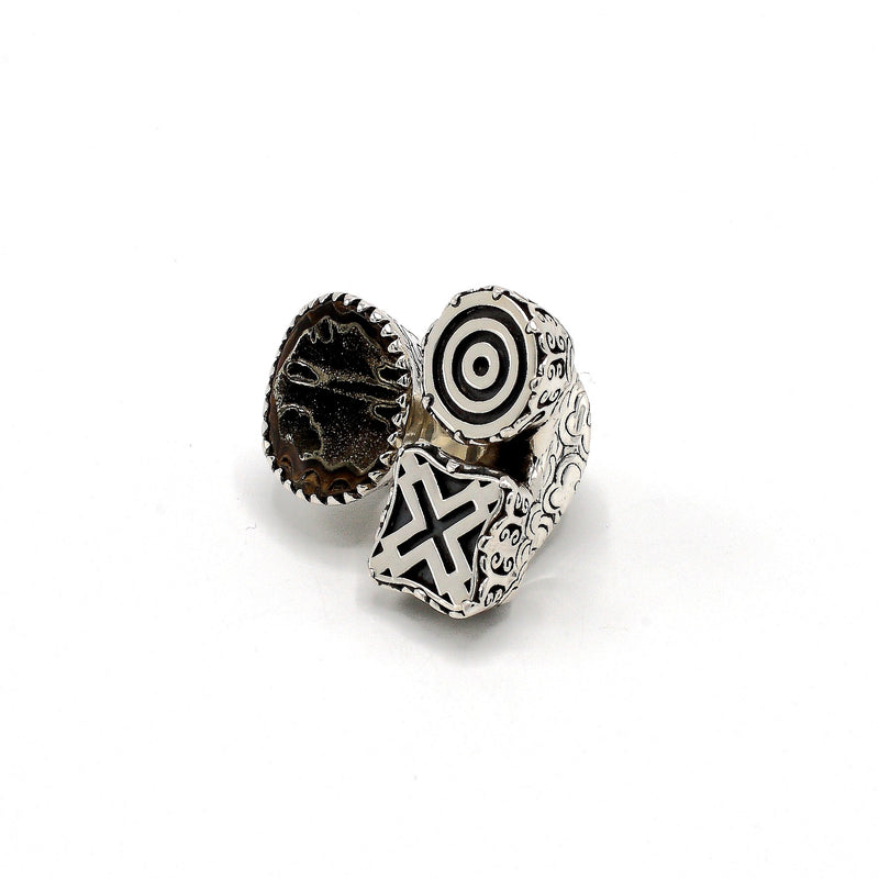 Xochitl Trinity Ring with Adinkrahene & Aban