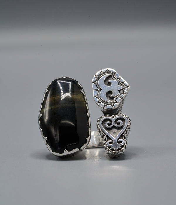 Xochitl Trinity Ring with Akoko Nan & Sankofa