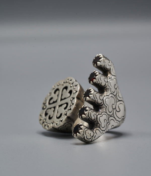 Wangari Trinity Ring with Nyame Dua