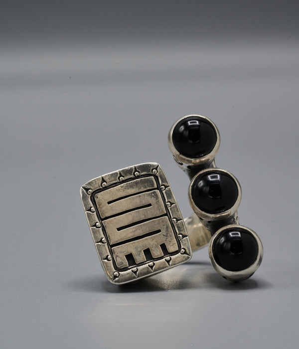 Wangari Trinity Ring with Nkyinkyin
