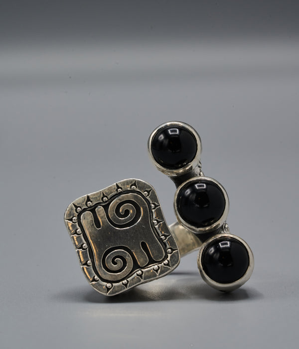 Wangari Trinity Ring with Kwatakye Atiko