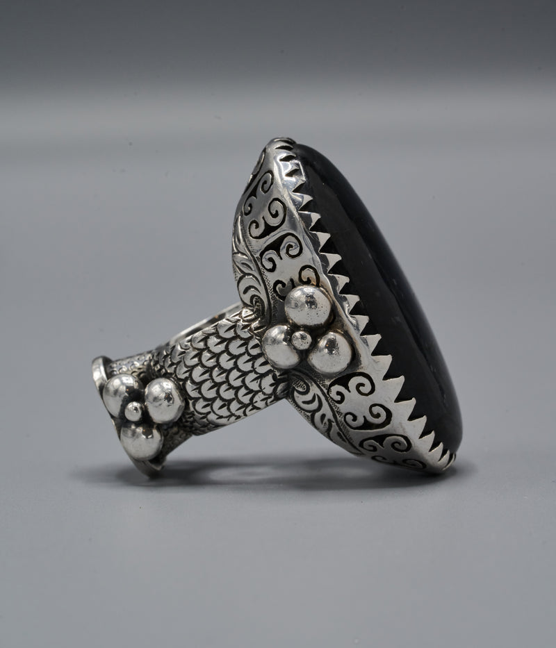 Tzaritsa Two-Sided Ring with Sankofa