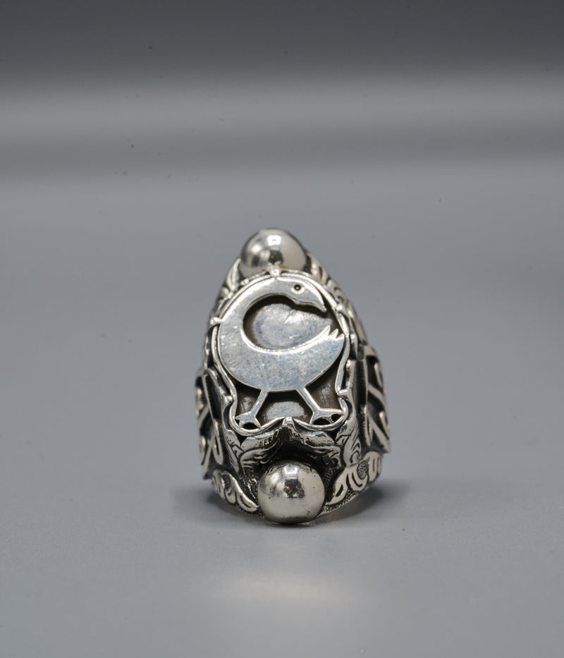 Yasuke Shield Ring with Sankofa